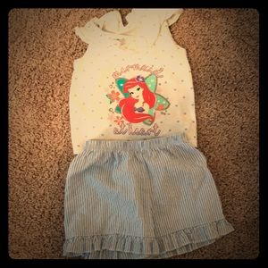 Toddler Little Mermaid Outfit Tank Top and Shorts